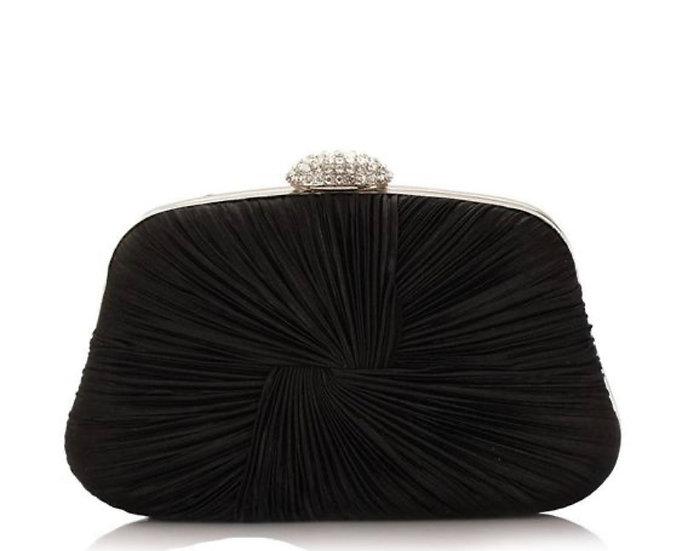 Sleek pleated handbag