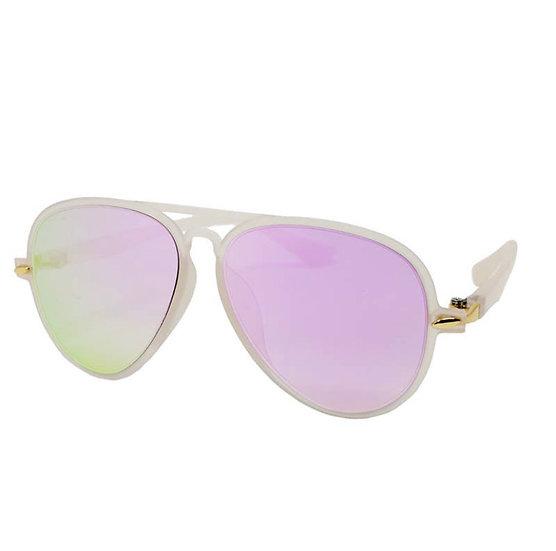 Kids Light Pink Aviator Sunglasses