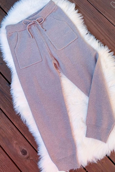 Cable Knit Cozy Jogger