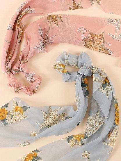 Floral Ponytail Scrunchies