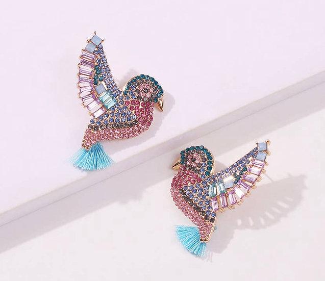Hummingbird Swarovski Crystal
