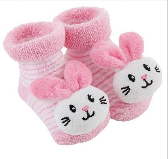 Baby Bunny Rattle Socks