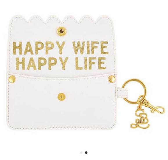 Happy Wife Happy Life Wallet