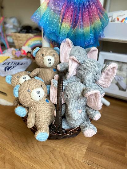 Knit Plush Animals