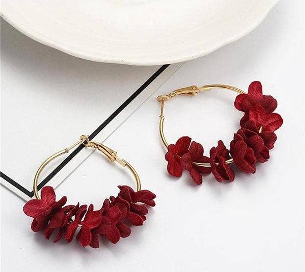 Floral Hoop (Red)