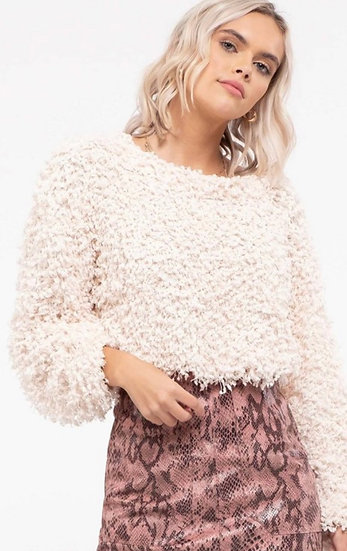 Cream Popcorn Sweater