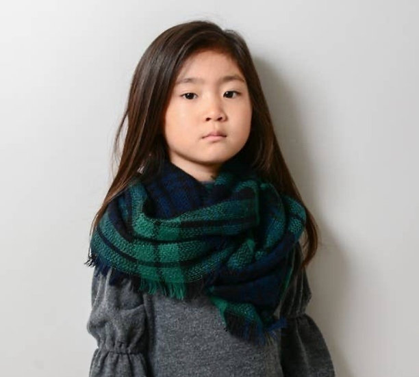 Kids - Classic Plaid Blanket Scarf