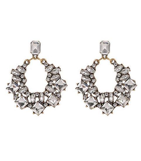 Morgan earrings with Swarovski crystals