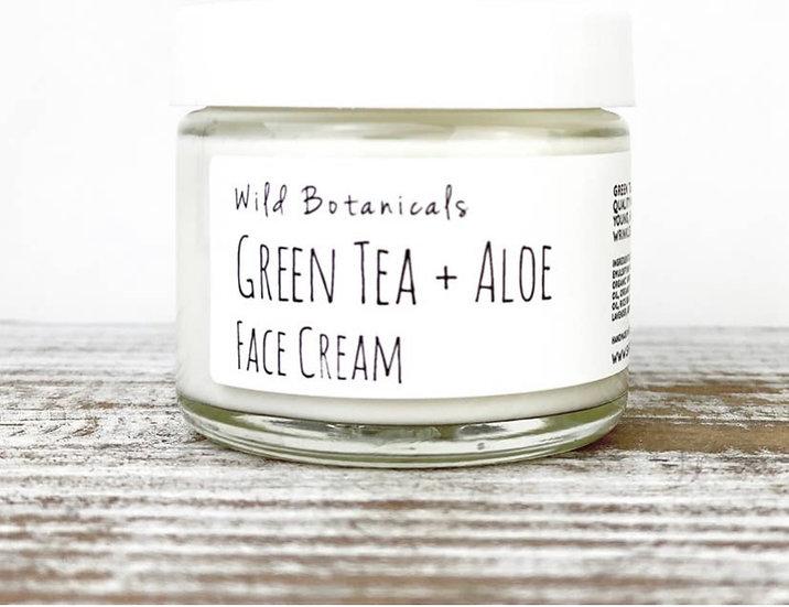 2oz Green Tea and Aloe Face Cream