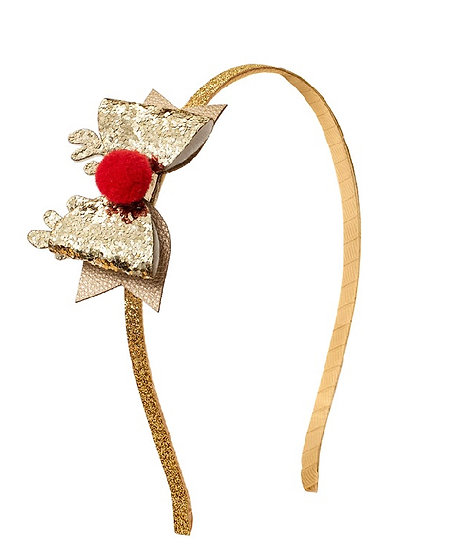 Red nose reindeer headband