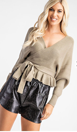 Dolman Sleeve Peplum Sweater