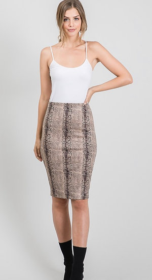 Suede Snake Skirt