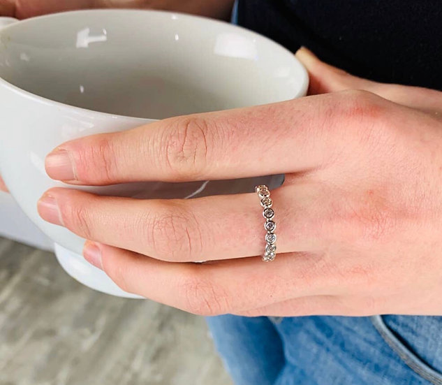 Silver Eternity Adjustable Ring