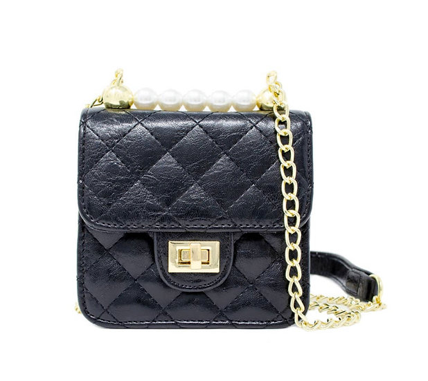 Kids classic quilted pearl bag