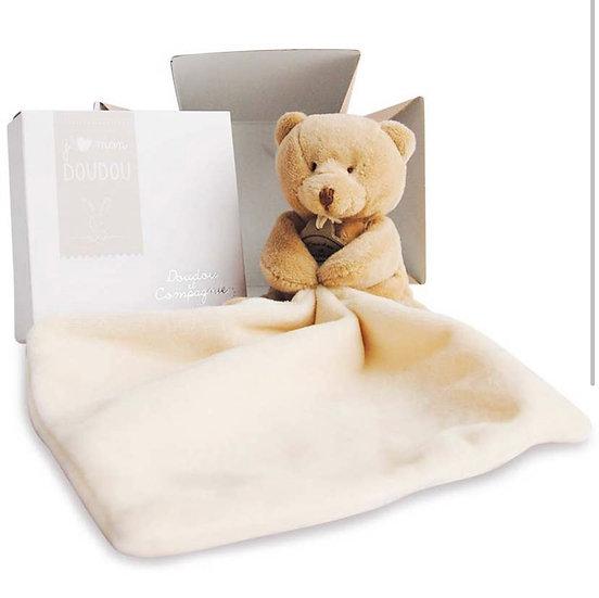 Teddy with DouDou Baby Blanket