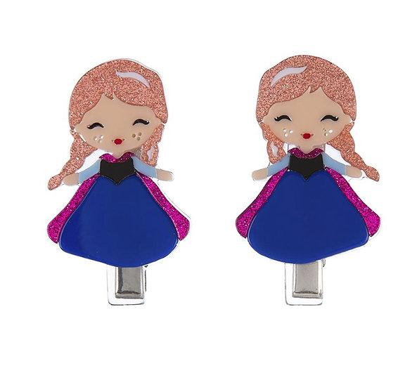 Snow Princess hair Clips