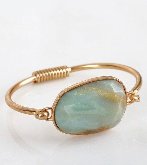 Amazonite Cat Eye Bracelet
