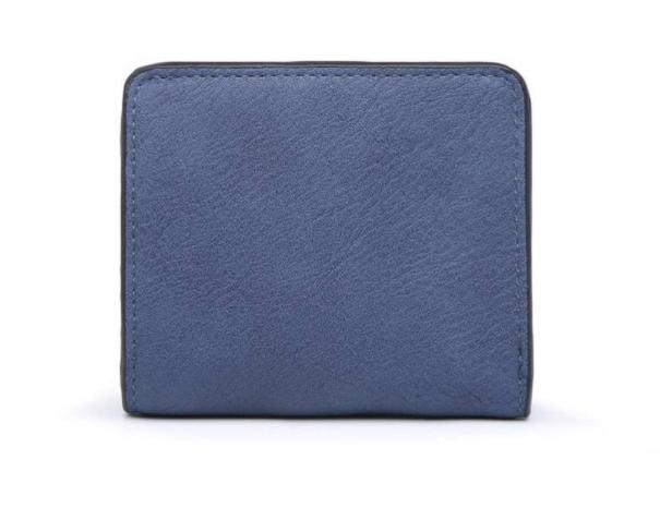 Snap Closure Wallet Blue