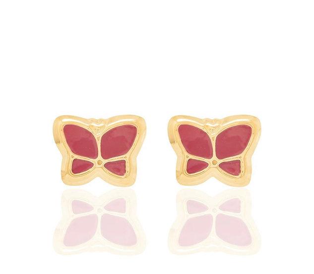 Butterfly Gold Plated Kids Earrings