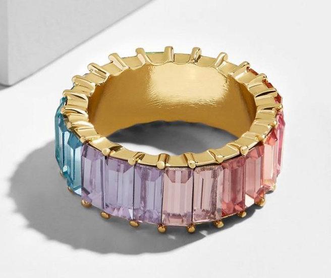 Swarovski Crystal multi color ring