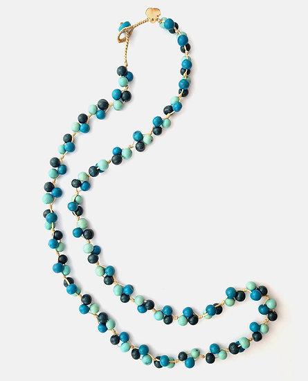 Mix Blue Acai Berry Long Necklace