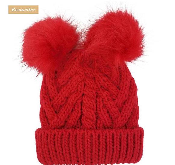 Red Fluffer Beanie Hat