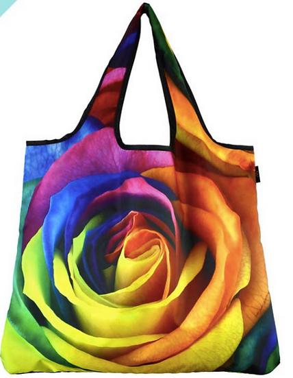 Reusable Bag- Rainbow Flower