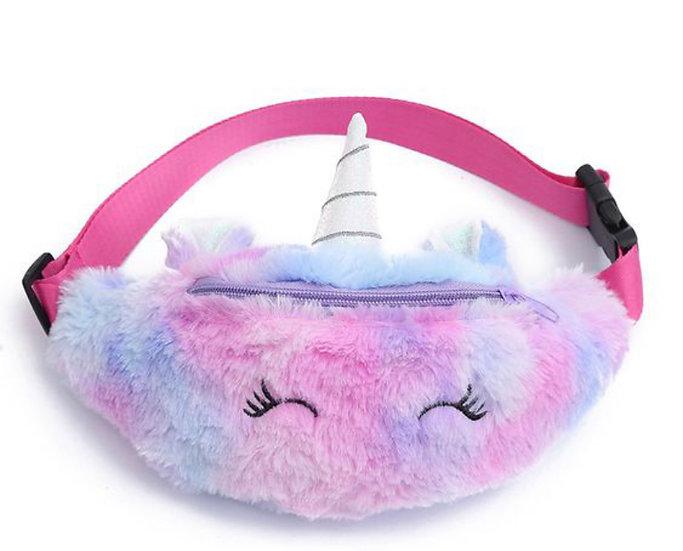 Kids Plush Unicorn Belt Bag