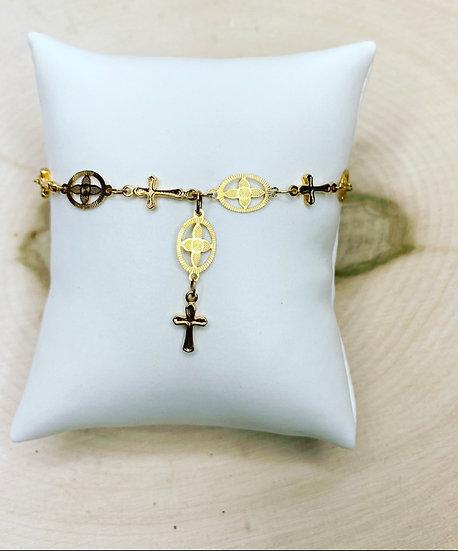 18K Gold Plated Rosary Bracelet