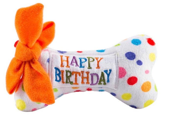 Happy Birthday Squeaky Plush (Small)