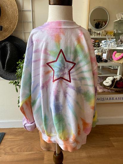 Star Tie Dye Sweatshirt