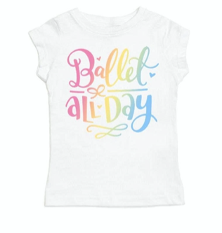 Ballet All Day Kids Tee