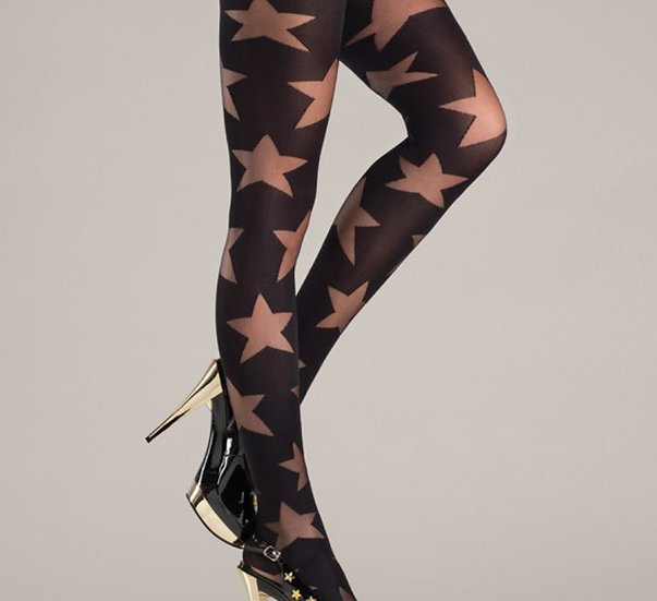 Opaque black with sheer stars