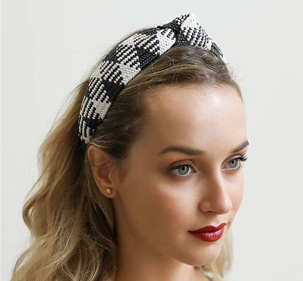 Straw Rattan Knotted Headband