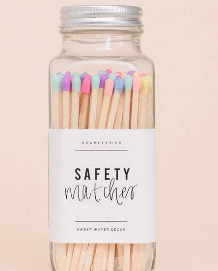 Multicolor Rainbow Matches- Glass Jar