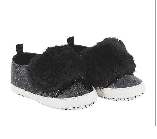 Black Fur Shoe