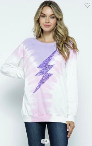 Tie Dye Lightning Sweatshirt