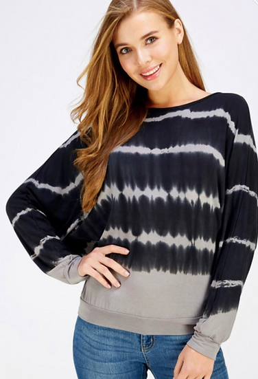 Round Neck Open Back Long Sleeve Shirt