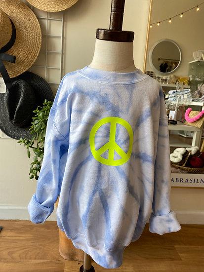 Peace Tie Dye Sweatshirt