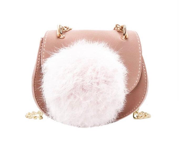 Girls Pom Pom Crossbody Bag