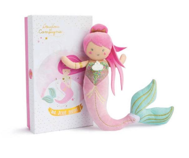 Miss Mermaid Soft Doll ( Green/Pink Tail)