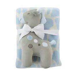 Baby Gift Set Blanket + Giraffe Plush