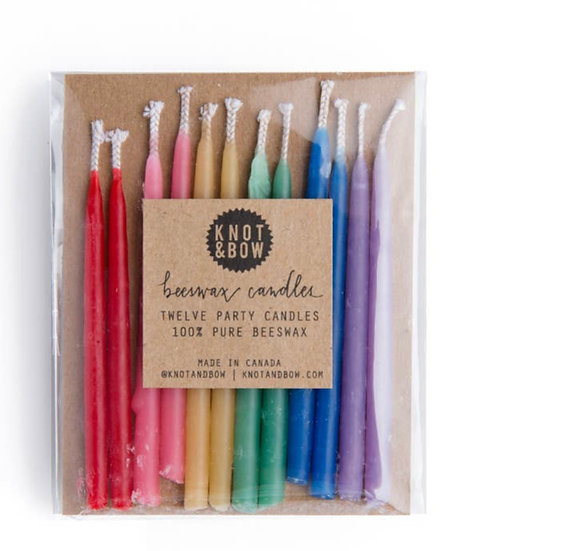 Rainbow Pure Beeswax Candles