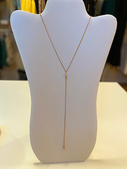 Star Y Shape Gold Plate Necklace