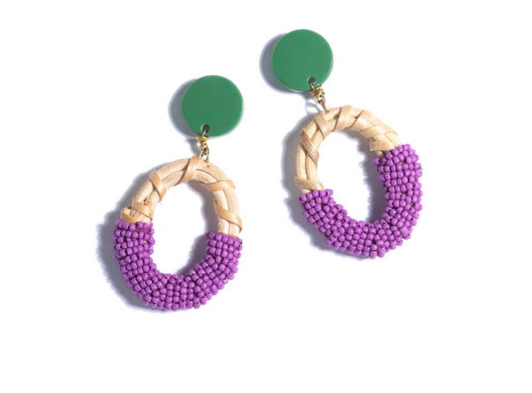 Gabrielle Earrings - Lavender