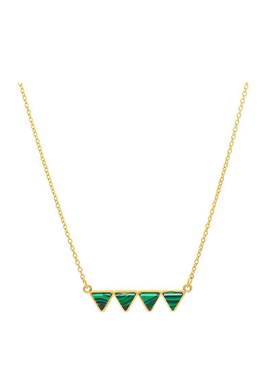 Forest Necklace  Gold Plated (Adjustable)