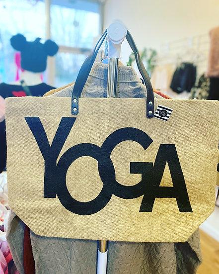 Yoga Jute Tote Bag