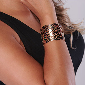 18K Gold Plated Wide Cuff