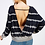 Thumbnail: Round Neck Open Back Long Sleeve Shirt