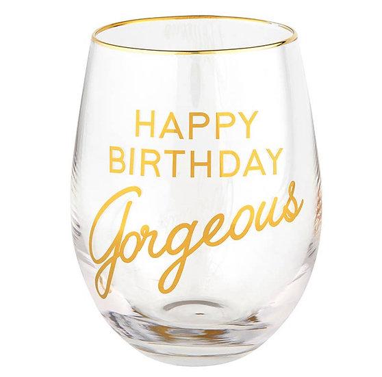 B-Day Gorgeous Wine Glass